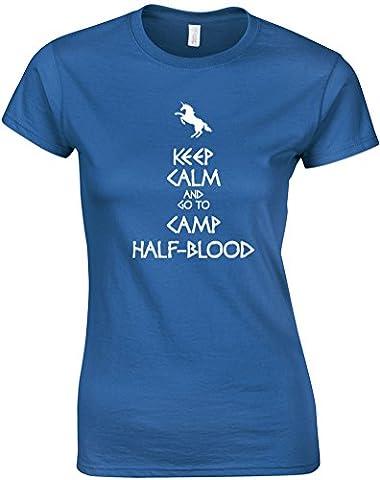 Keep Calm And Go To Camp Half-Blood, Gedruckt Frauen T-Shirt