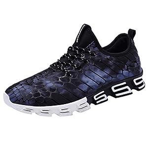 EUZeo Herren Atmungsaktiv Fantastisch Turnschuhe Fitnessschuhe Casual Gedruckt Laufschuhe Straßenlaufschuhe für Teenagers Fitness Gym Outdoor Leichtes Bequem Schuhe
