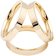 SHAN LI HUA Simple Design 3 Rings Scarf Buckle Female Scarf Ring Silver 18k Gold Plated