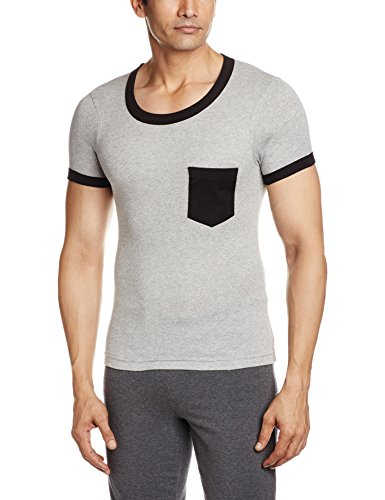 Rupa Hunk Men's Cotton Vest (8903978454504_HUNK VEST - 2061 GREY MELANGE XS)  available at amazon for Rs.74