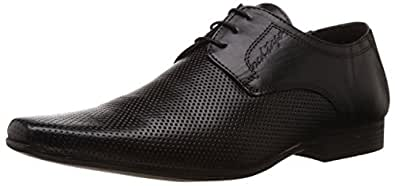 Red Tape Men's Derbys Black Leather Formal Shoes - 11 UK
