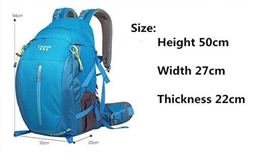 Wasserdichte 40L Nylon Fahrrad Rucksäcke Ultrasporttasche für das Reiten Fahrradrucksack Rennrad Tasche Yellow