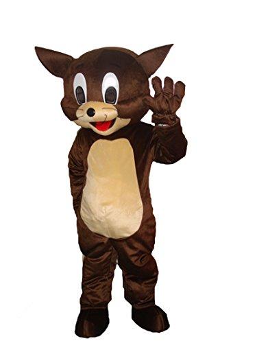 Maus Halloween Maskottchen Kostüm für Erwachsene Fancy Dress Outfit (Minnie Maus Maskottchen Kostüme)