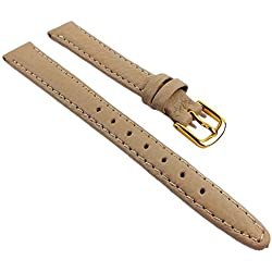 Birkenstock Imperator Replacement Band Watch Band Leather Kalf waterproof Beige 66611_G, Abutting:12 mm