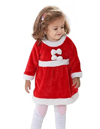 H:oter® Christmas Party Gifts Baby Girl Santa Costume Fancy Dress Costume Outfit