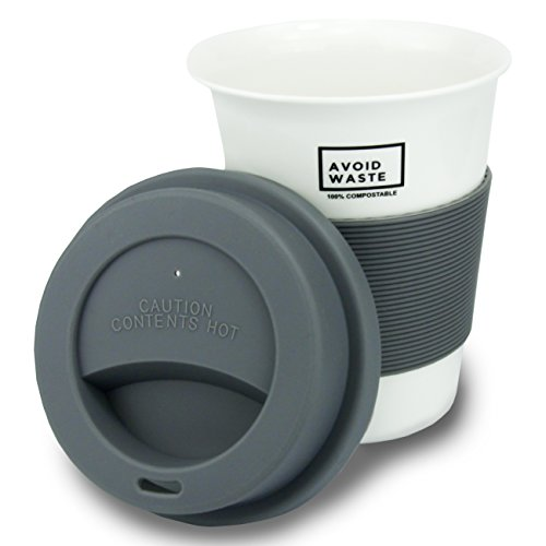 AVOID WASTE - ECO Kaffeebecher to go, kompostierbar. Becher to go aus pflanzlichem Material (PLA)....