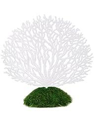 PIXNOR Planta Coral Decoracion Acuario Pecera ornamento decoración Artificial de Coral (Blanco)