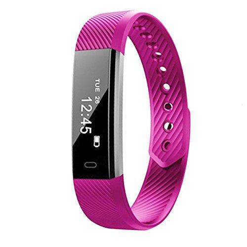 Fitness-Tracker SmartBand Herzfrequenz-Blutdruckmessgerät Uhr Schritt Walking Schlaf-Zähler Wireless-Armband Schrittzähler Übung Tracking Sweatproof Sport Armband ALLE iPhone ALL Android Smartphones