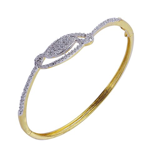 MUCH MORE Trandy American Diamond Gold Plated Bracelet for Daily Wear