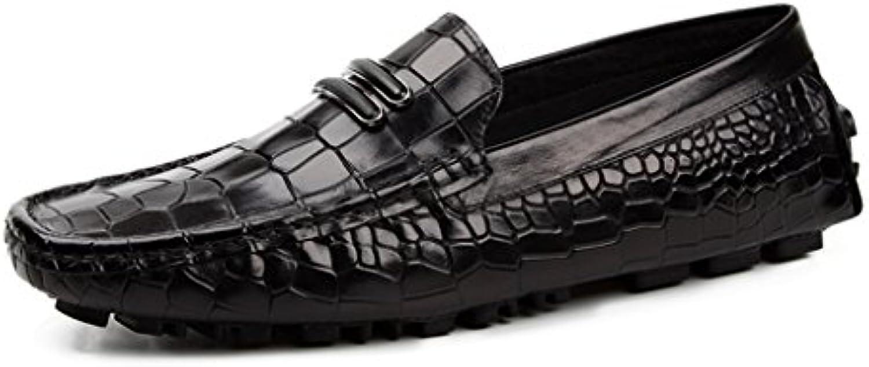 HWF Scarpe Uomo in Pelle Spring Peas scarpe Scarpe da Uomo in Pelle Scarpe Casual Stile Inglese Lounger Traspirante... | unico  | Scolaro/Signora Scarpa