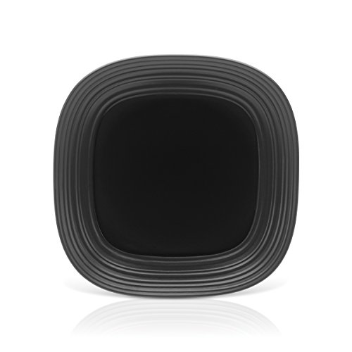 Mikasa Swirl Black Square Serving Platter, 12-Inch by Mikasa Mikasa-swirl