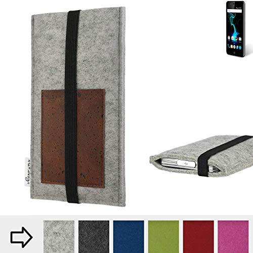 flat.design Handy Hülle Sintra für Allview P6 Pro handgefertigte Handytasche Filz Tasche Schutz Case Kartenfach Kork