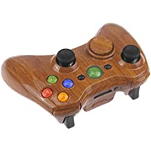 "'Concha/carcasa ""Wood Madera Marrón para Xbox 360 Wireless Controller Incluye Mod Kit (ABXY Buttons, Thumbsticks, D de Pad, Guide Button, Start/Back Buttons, Bumper RB/LB, Middle Bar + Sync Button, Trigger RT/LT, bottom Trim)"