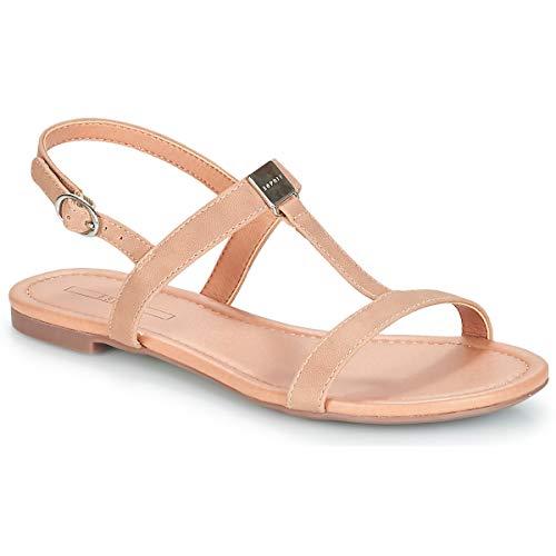 ESPRIT Sandale in Nubuk-Optik
