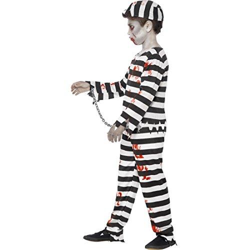 Imagen de disfraz infantil prisionero  t, mayores de 12 años, 152  163 cm | traje niño zombie | outfit halloween cautivo | disfraz muerto viviente alternativa