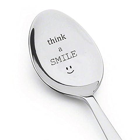 Think un sourire Cuillère à café–thé à céréales Petit Déjeuner–Meilleures Ventes de l'article Cadeau–pour lui–Cadeau pour elle–Cadeau de cuillère
