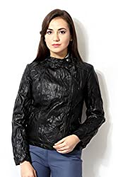 Allen Solly Womens Cotton Jacket (AWJK515C00587_Black_S)