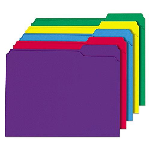 Universal 16166 del archivo de carpetas de color-1/3 Cut-Surtido de dos capas Top