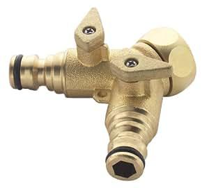 Spear & Jackson Raccord de robinet en laiton à 2 sorties 19 mm