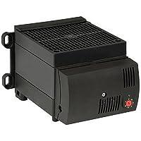 Stego 13060.0-01 Modelo CS 130 Resistencia Calefactora Plástico con Ventilación Semiconductora, 182 mm Altura x 160 mm Ancho x 120 mm Longitud, 1.2W, 230 VAC, 50/60 Hz, Negro
