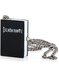 PIXNOR Rétro Vintage Quartz Montre de Poche Portable Carnet Flip Montre de Poche Death Note Montre Collier