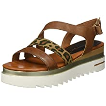 MARCO TOZZI Women's 2-2-28730-24 Ankle Strap Sandals, Brown (Nut Comb 441), 4 UK