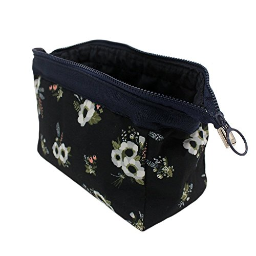 Aeoss ® New Women Portable Cute Multifunction Beauty Travel Cosmetic Bag Organizer Case Makeup Make up Wash Pouch Toiletry Bag (BLACK)