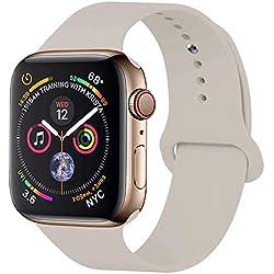 GIPENG pour Bracelet Apple Watch 38MM, Bracelet Sport pour Apple Watch Serie 1, Serie 2, Serie 3, Sport, Edition, Hermès,Nike (Pierre, 38MM-SM)