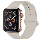 GIPENG para Correa Apple Watch 38MM 40MM, Suave Silicona iWatch Correa, para Series 3, Series 2, Series 1, Nike+, Edition, Hermes (Stone, 38MM-SM)