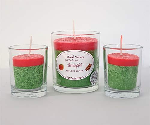 Candle Factory - Coffret Cadeau Bougie Bougie Parfumée Hiver Romantic Pomme