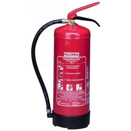 Preisvergleich Produktbild Dauerdruckfeuerlöscher 6kg Brandklasse A / B / C mit Wandhalter
