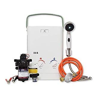 Eccotemp CEL5 – Calentador de Agua portátil (1,5 GPM, con diafragma EccoFlo de 12 V, Bomba y colador)