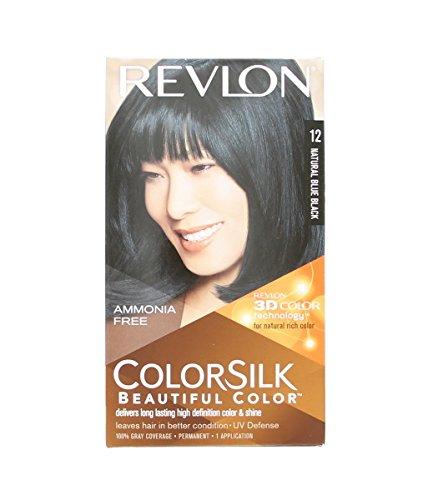 Revlon COLORSILK Belle Couleur de cheveux sans ammoniaque permanent Haircolor- # 12 Natural Bleu noir (pack de 2)