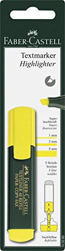 faber-castell-145099-blister-con-1-resaltador-de-texto-subrayador-de-texto-color-amarillo