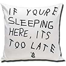 drake If You re Reading This It s Too Late parody album cover Custom Pillow 18X18 TWO SIDE