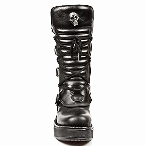 New Rock - M.8373-s1, Casual Donna BLACK, BLACK