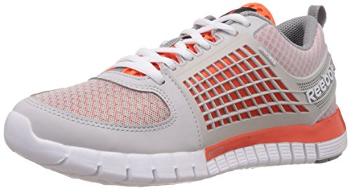 Reebok Boy's Zquick Electrify Steel, Orange, Grey and White Mesh Sports Shoes – 3.5 UK 41cbj3Me5QL