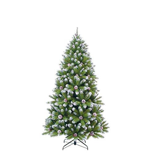 triumph tree Empress Spruce con coni albero di Natale artificiale, PVC, Frosted, 107x 107x 185cm