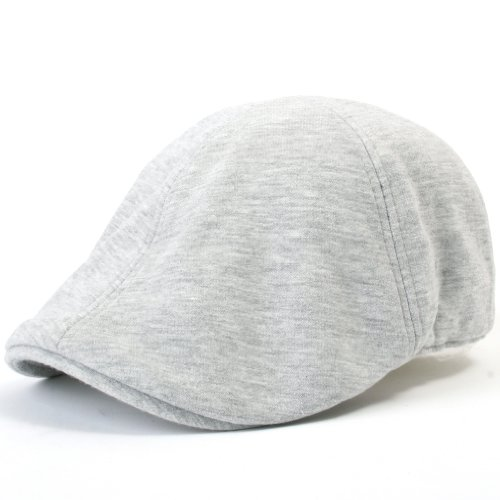 ililily Soft Cotton Newsboy Flat Cap Pre-Curved ivy Stretch-fit Driver Hunting Hut (flatcap-506-3) - Stretch Fit Hut