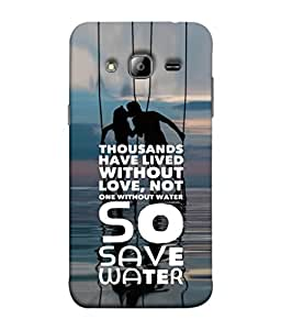 PrintVisa Designer Back Case Cover for Samsung Galaxy J7 J700F (2015) :: Samsung Galaxy J7 Duos (Old Model) :: Samsung Galaxy J7 J700M J700H (Love Save Water Ocean Sea Kiss Swings)
