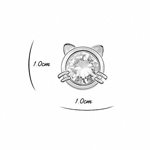 TAOTAOHAS- Boucles d'oreilles [ poisson chat, clair ] fait avec Autrichien Cristal Stud Boucles d'oreilles, alliage or 18K, Zirconia Rosaline (True Gold Plated)