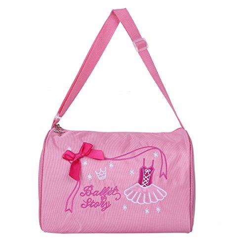 (CHICTRY Mode Kinder Mädchen Ballerina Ballett Tanz Tasche Handtasche Umhängetasche Seesack mit Reißverschluss Einheitsgröße Rosa One Size)