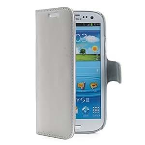Muvit MUAG0002 Etui portfolio pour Samsung Galaxy S3 4G Blanc