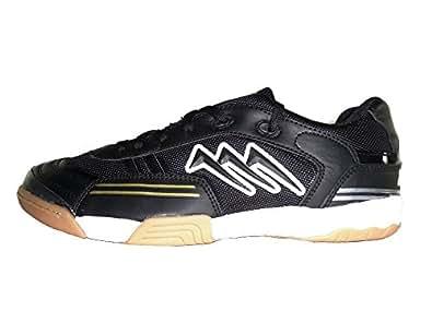 AGLA PROFESSIONAL CONDOR LIGHT INDOOR scarpe calcetto futsal calcio a 5 anti-shock (40, BLACK/WHITE)