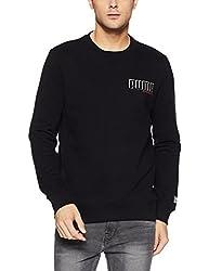 Puma Mens Round Neck Cotton Sweatshirt (4057828808048_85101201_Large_Cotton Black)