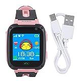 Montre pour Enfants - Montre Intelligente pour Enfants, Montre de Suivi GPS Anti-Perte, Montre à écran Tactile sécurisé pour Enfants (Couleur : Rose)