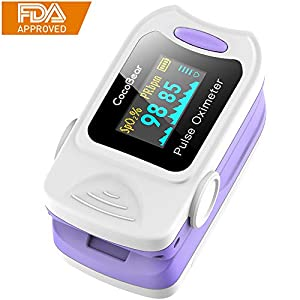 Pulsoximeter CocoBear Professionel Tragbares Fingeroximeter- OLED-Anzeige Messen SpO2-Wert und Herzfrequenz – Schnelles Lesen Fit für das Gesundheitswesen