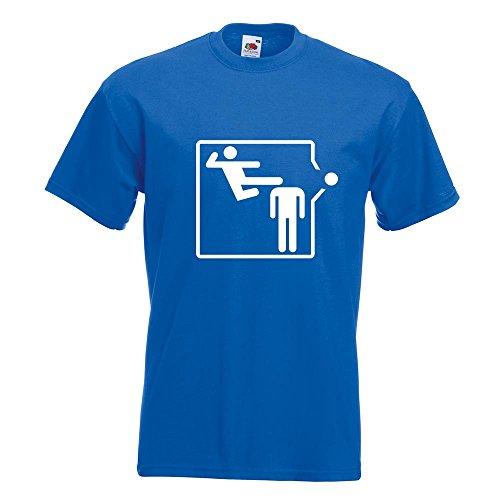 KIWISTAR - Karate Kick T-Shirt in 15 verschiedenen Farben - Herren Funshirt bedruckt Design Sprüche Spruch Motive Oberteil Baumwolle Print Größe S M L XL XXL Royal
