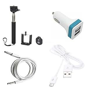 High Quality Selfie Stick , 5V/2.1 A Dual (2) Jack USB Car Charger , USB Cabl...