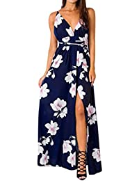 Homebaby® Lunghi Vestito Donna Eleganti - Vintage Estivi Vestiti Casual  Donna - Sexy Gonna Abito 1831facb0d1